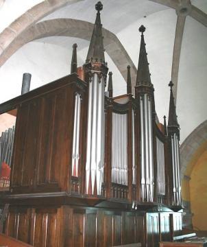 L'orgue du likès après transformation par Raymond Bouvet (Nantes)