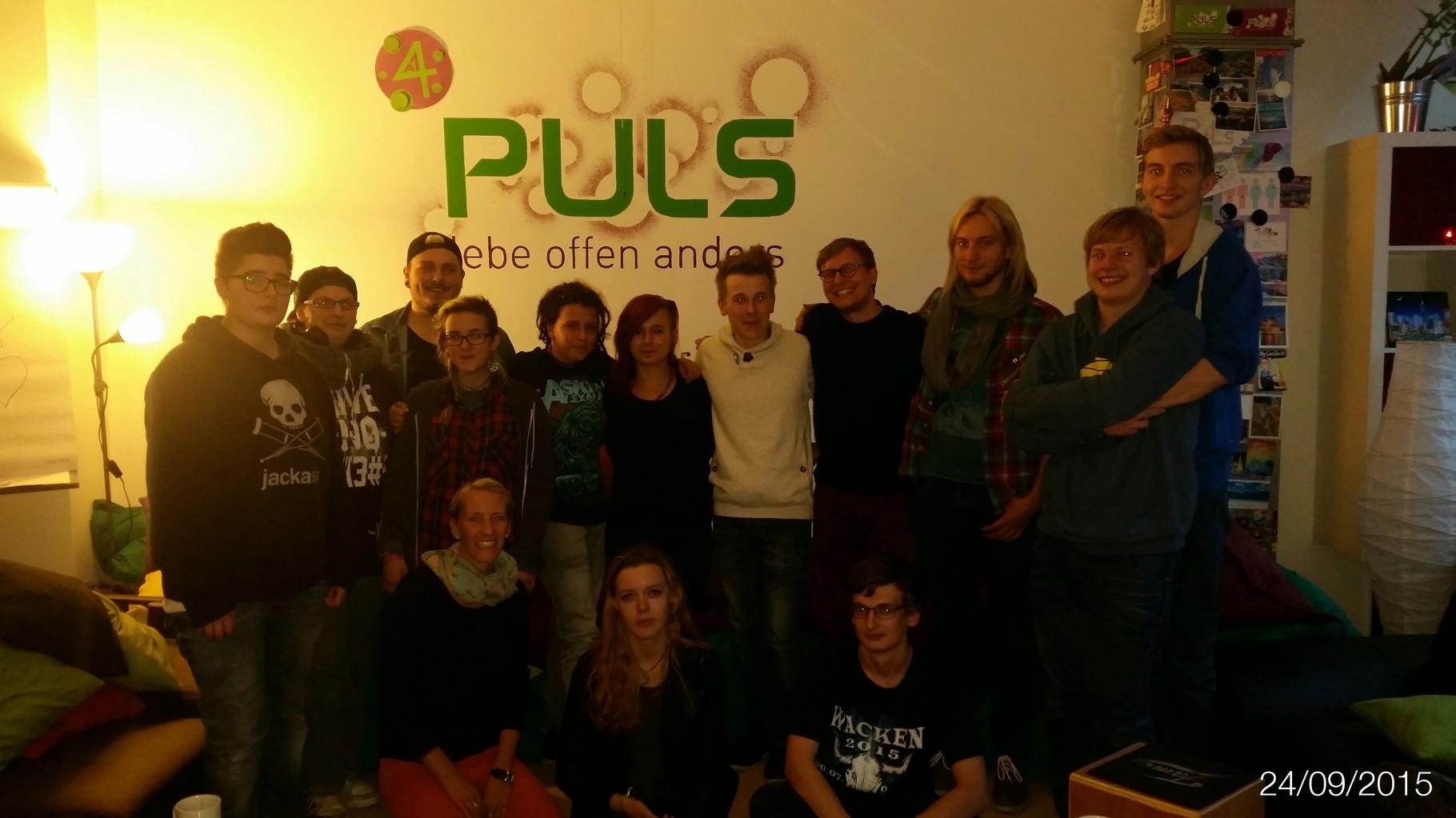 Das Gruppenfoto darf natürlich nicht fehlen:) Jana (Hauptverantwortliche des PULS) ist wirklich sehr nett und hilfsbereit.