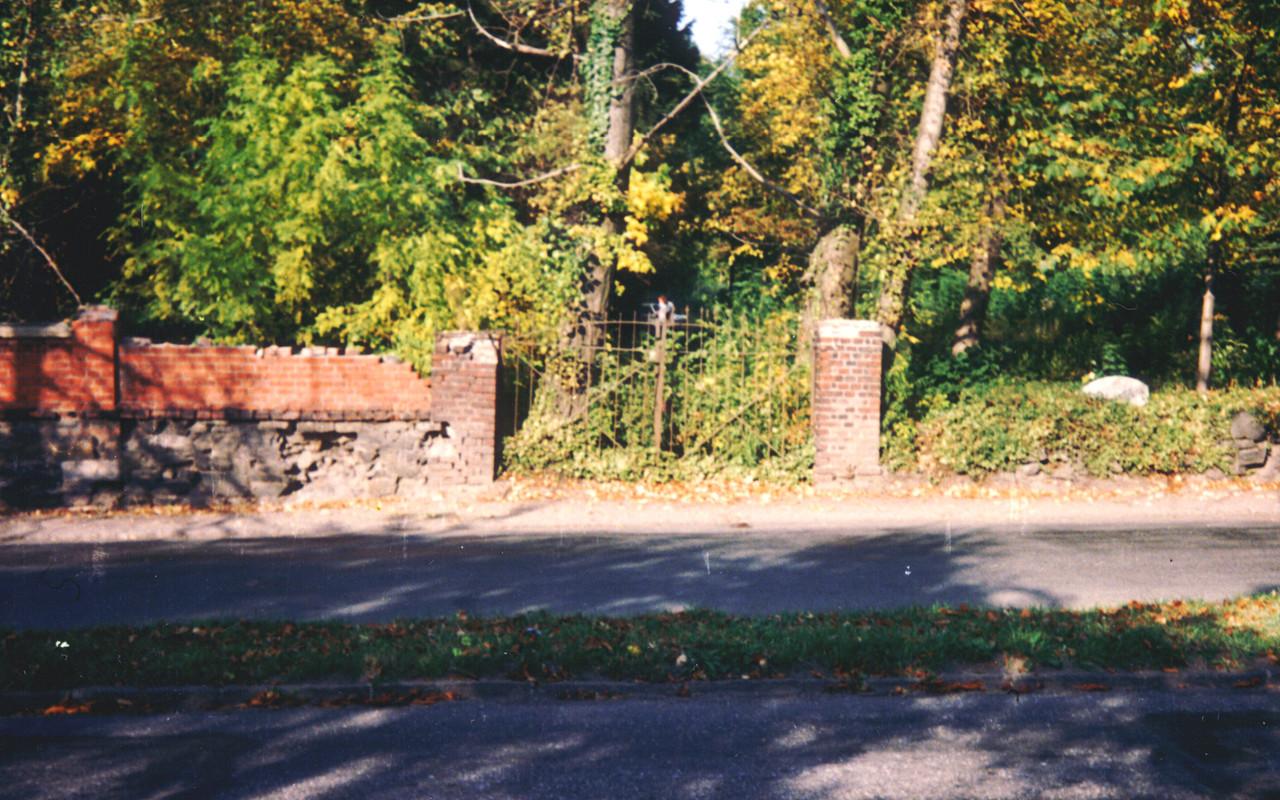 ehemaliger Eingang Cainsdorfer Straße 1991