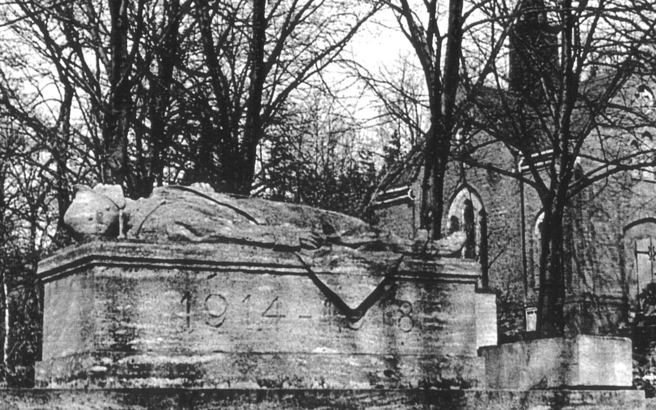 Friedhof Planitz l Bau der Kriegsgräberanlage um 1928