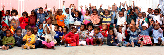 Children's group with our collaboration partner KOZAMA (early childhood development and education in Antananarivo).