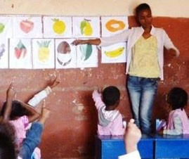 Antananarivo. Preschool centre in Ambohiday supported by KOZAMA