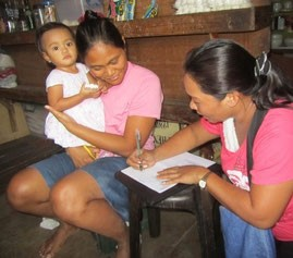 Manila. Home-based follow-up with the NGO ENFANCE