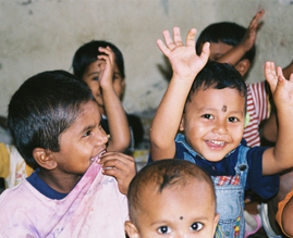 Mumbai. Beneficiary children in an early childhood workshop in Pimpripada
