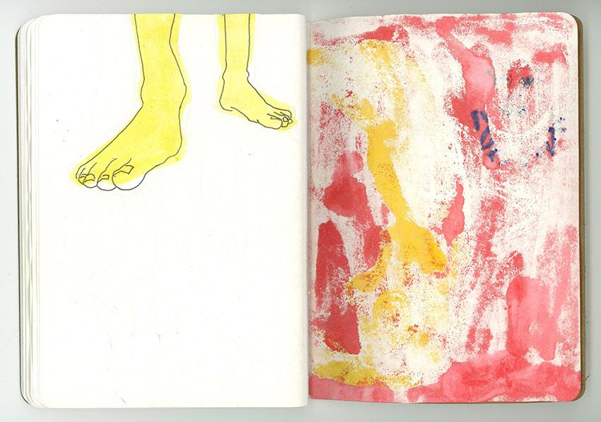 Sketchbook Petra Jäger Füße bei Körperhaltung im Kontrapost