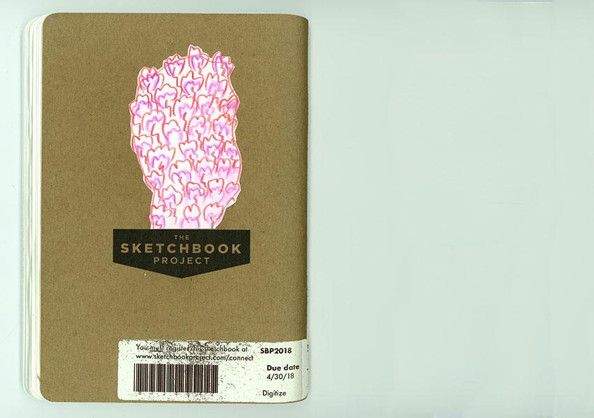 Sketchbook Petra Jäger Rückseite mit Logo The Sketchbook Projekt