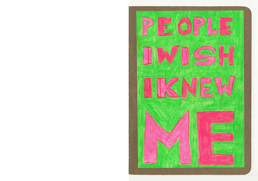 "Cover Sketchbook Petra Jäger ""people I wish I knew - me"""