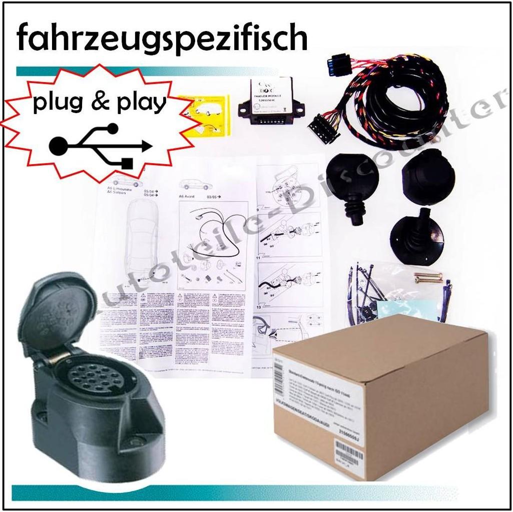 Ford Focus Stufenheck 2005-2011 Anhängerkupplung abnehmbar 13polig Elektrosatz