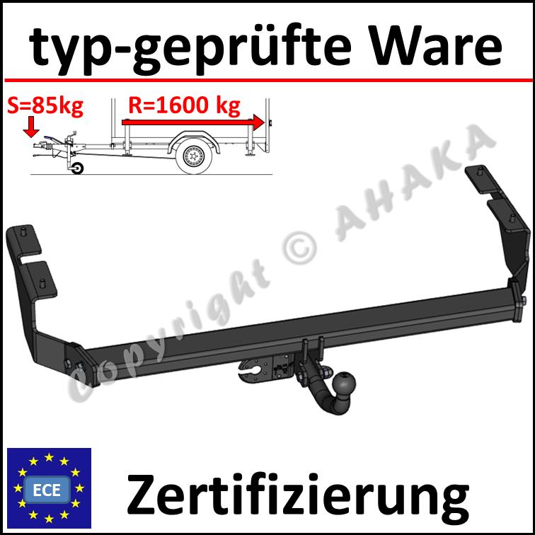 Citroen DS3 Anhängerkupplung starr+ES 13p ABE