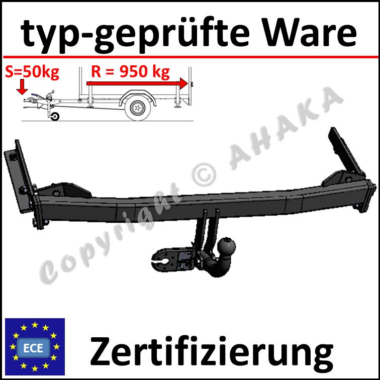 Steinhof Anhängerkupplung AHK für Mazda 626 5-Türen GF 1997-2002 E-Satz 7-Polig