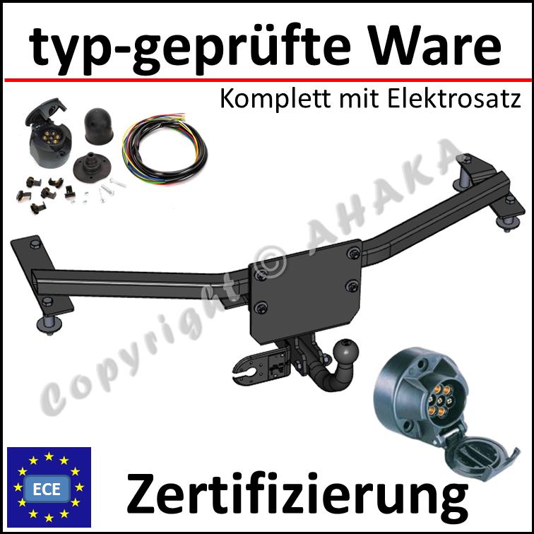 Anhängekupplung AHK Für Opel Combo D ab12 starr 13pol universal Elektrosatz