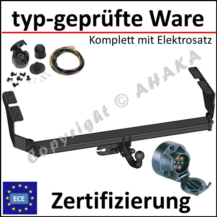 Anhängerkupplung starr Für Mercedes-BENZ W210 4-Tür 1995-2002+E-SATZ 13p SPEZ.