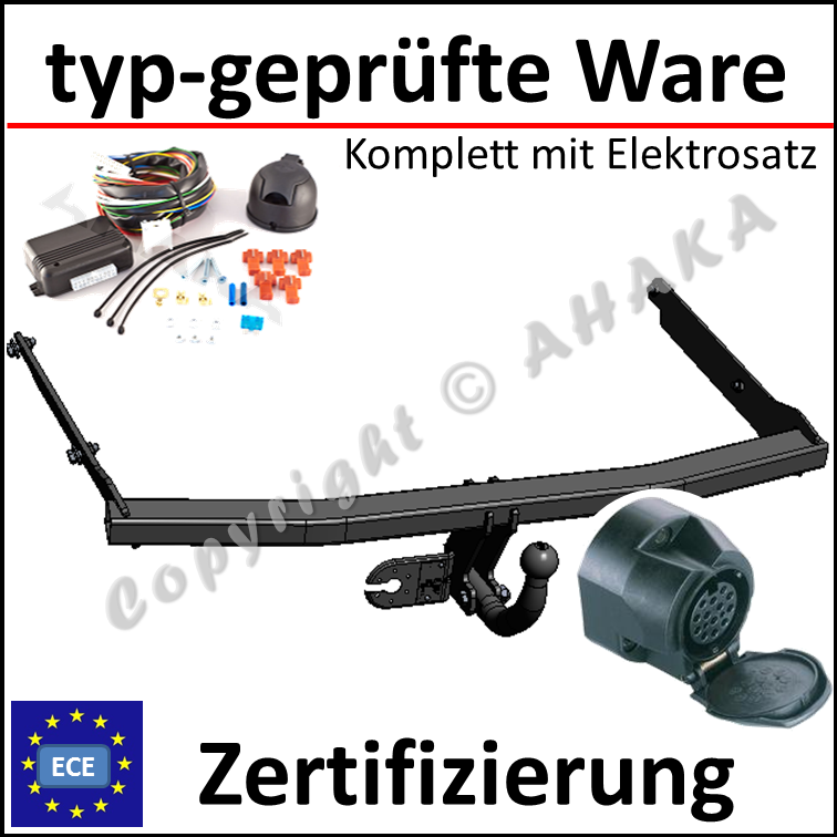 Anhängerkupplung Abnehmbar E-satz 13Pol für FORD C-MAX 2007-2010 C214