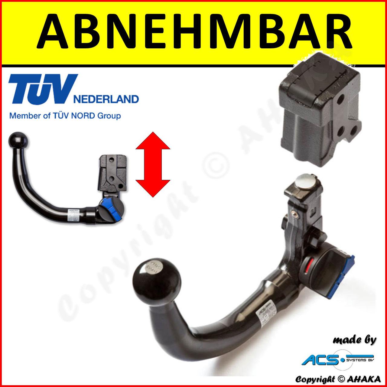 Anhängerkupplung starr Für Opel ASTRA I F 5-Tür 1991-2002 E-SATZ 7-polig ABE