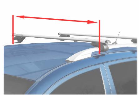 Stangen-Länge bei Auswahl passender Dachträger