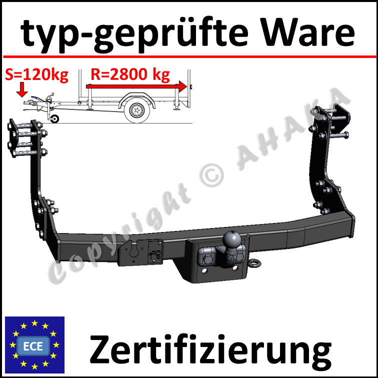 /> komplett AHK ES7 VW LT II 28-35 28-46 Bus Kasten 95-06 Anhängevorrichtung