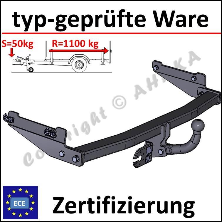 Für Peugeot 206 3//5-Tür Fließheck Anhängerkupplung starr+ESatz 13pol ABE