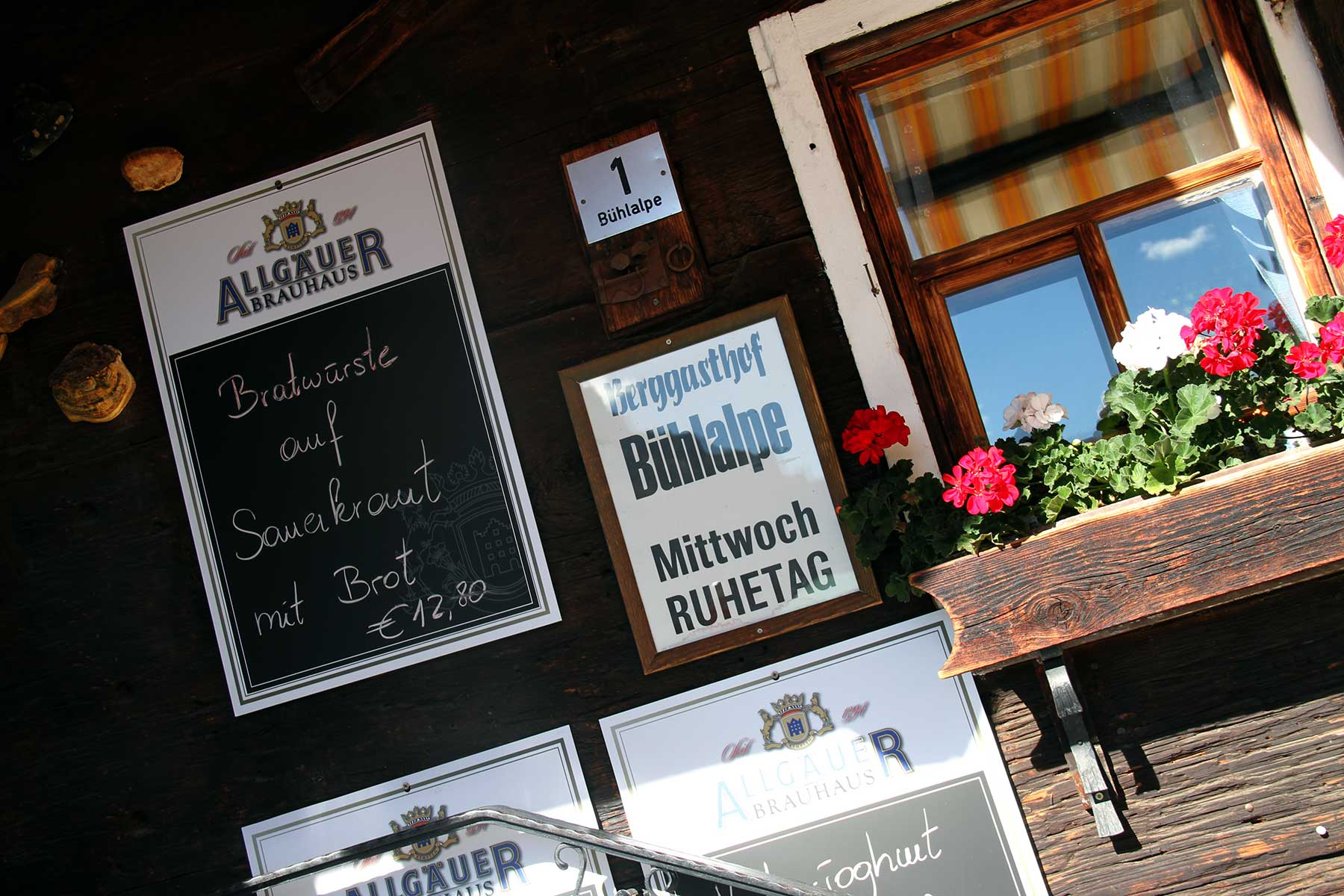 Berggasthof Bühlalpe, Kleinwalsertal – gute Küche auf der Hütte