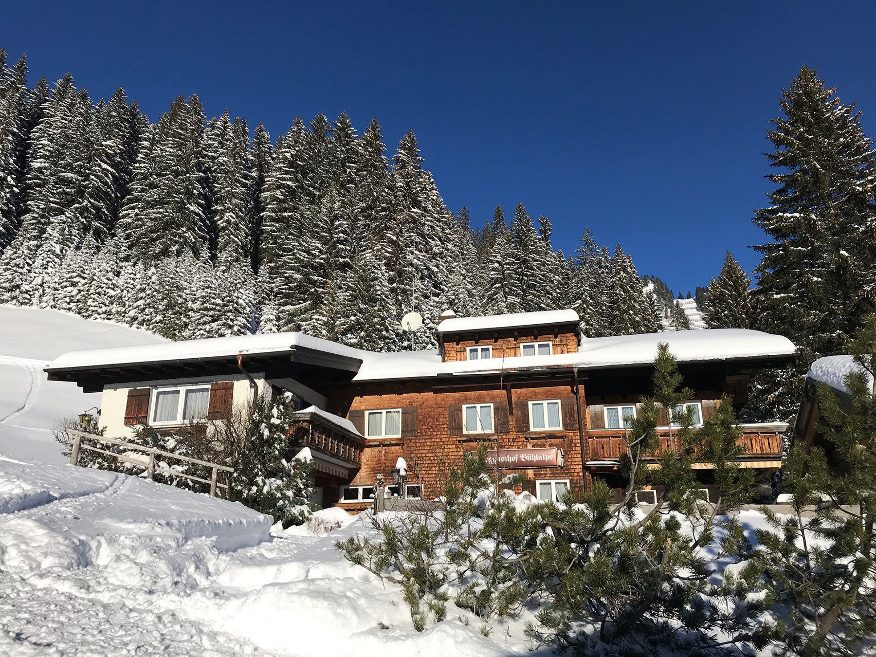 Berggasthof Bühlalpe, Kleinwalsertal – Winter