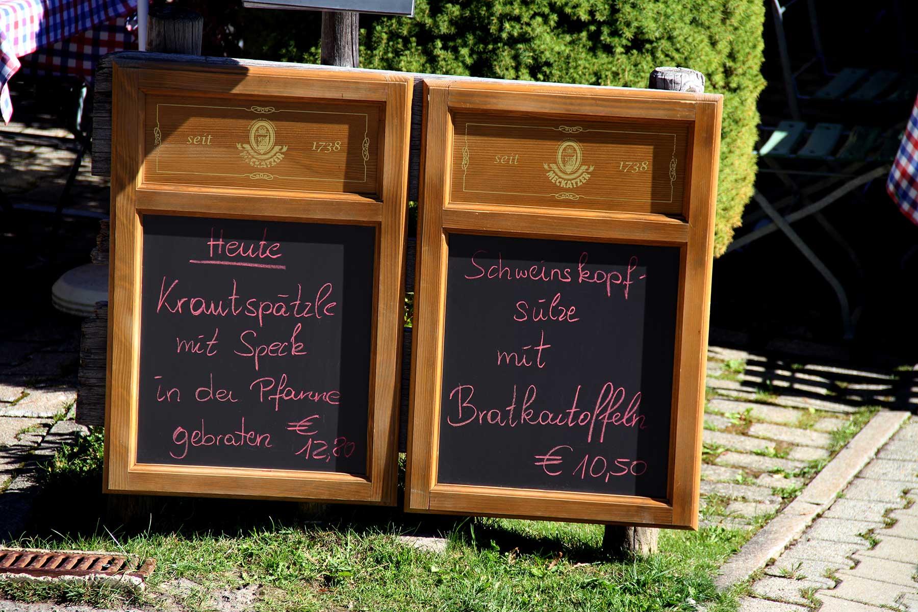 Berggasthof Bühlalpe, Kleinwalsertal – unsere wechselnden Tagesangebote