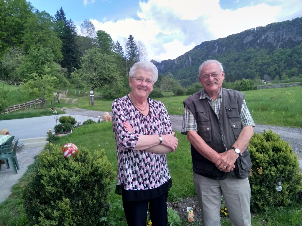 Fam.Porters Franz und Hanna  40 Jahre Treue  am obermaurachhof