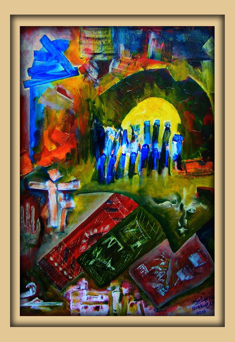 Aachener Kunstroute 2016, neue malerei, Acryl auf leinwand, Ibrahim Alawad 6