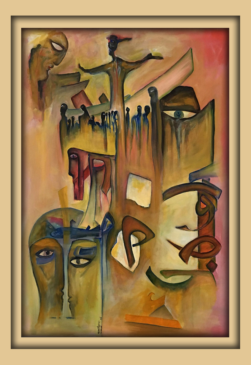 Aachener Kunstroute 2016, neue malerei, Acryl auf leinwand, Ibrahim Alawad 1