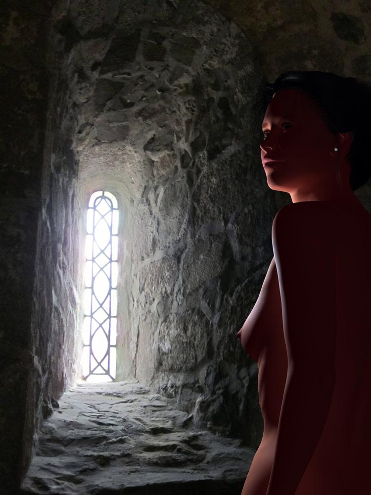Fensternische, Artemisia dell'Arte auf der Aachener Kunstroute 2017 in der Galerie Frutti dell'Arte und in der Aula Carolina
