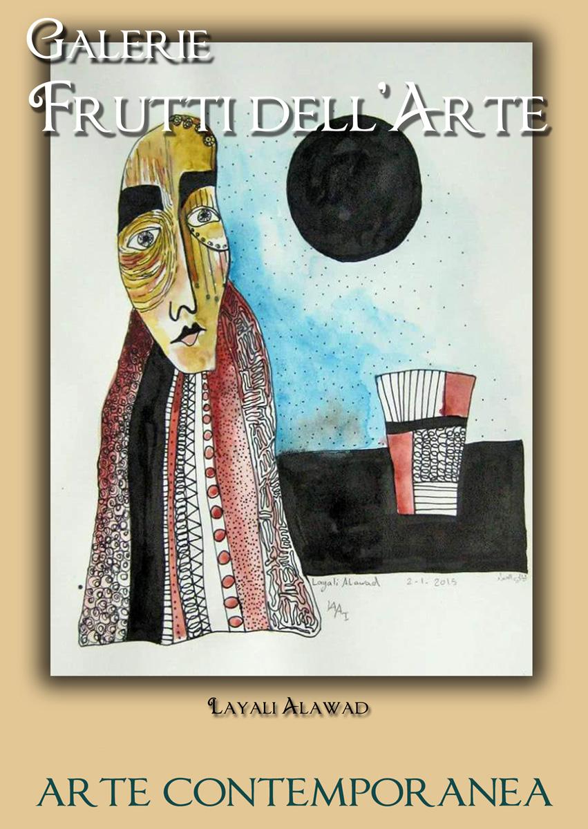 Plakat acht, Layali Alawad auf der Aachener Kunstroute 2016