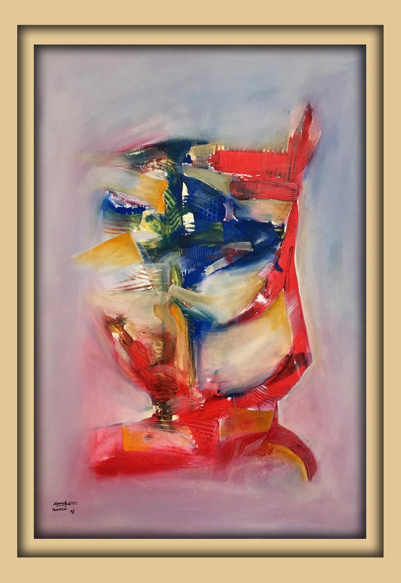 Aachener Kunstroute 2016, neue malerei, Acryl auf leinwand, Ibrahim Alawad 5