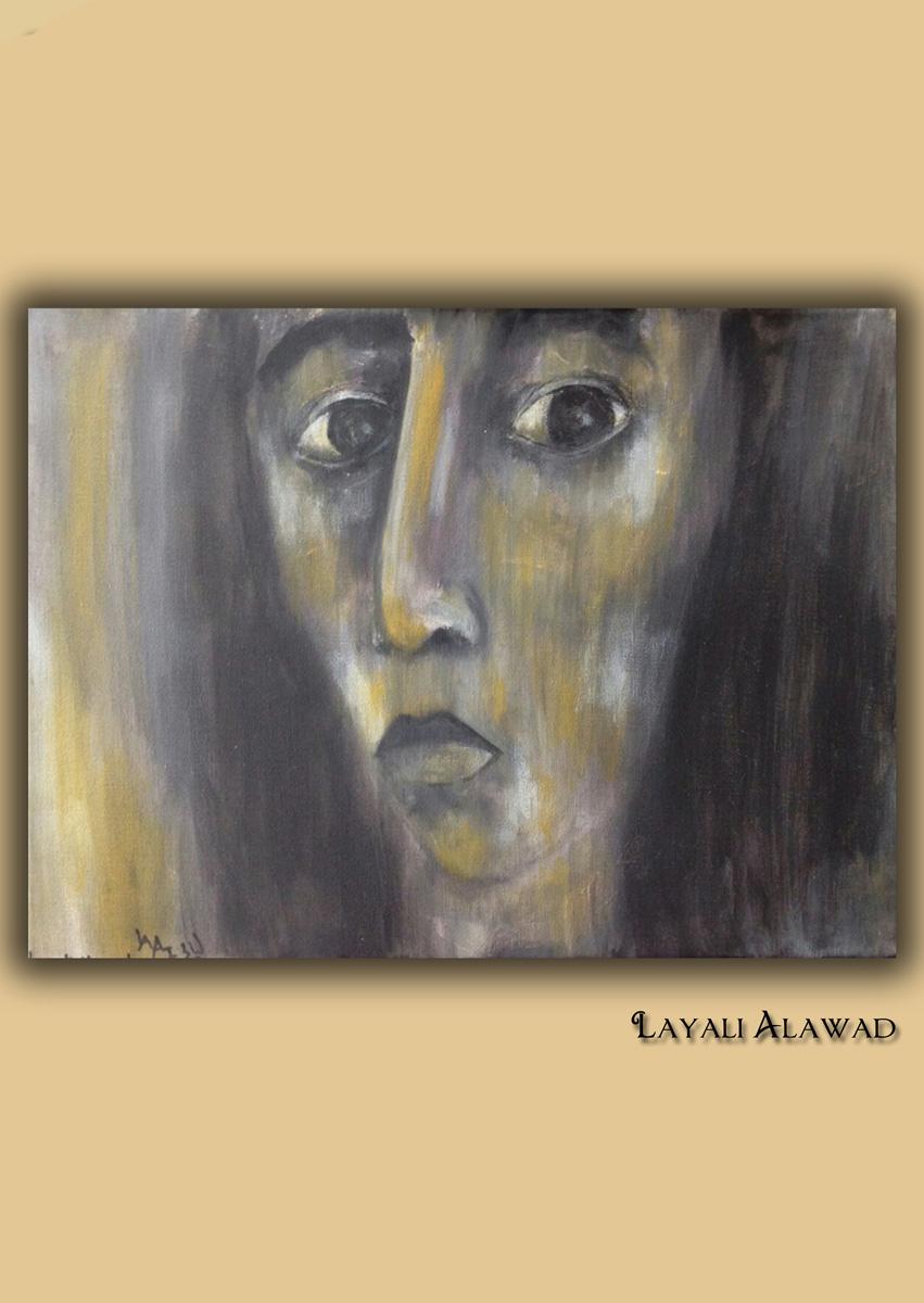 Die Kunst der Layali Alawad, Portrait eins Acryl auf der Aachener Kunstroute 2016