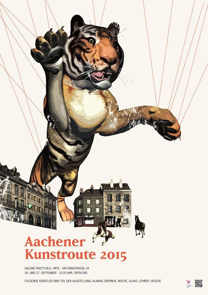 Plakatentwurf von Lara Bispink für die Galerie Frutti dell'Arte zur Aachenr Kunstroute 2015