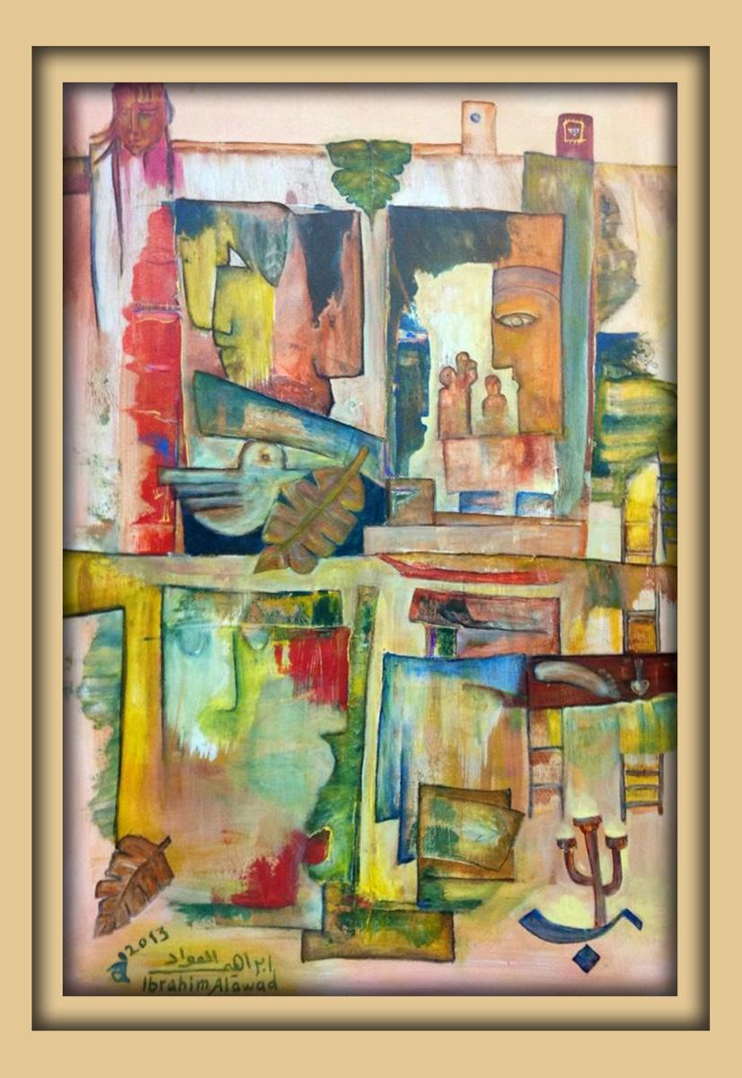 Aachener Kunstroute 2016, neue malerei, Acryl auf leinwand, Ibrahim Alawad 10