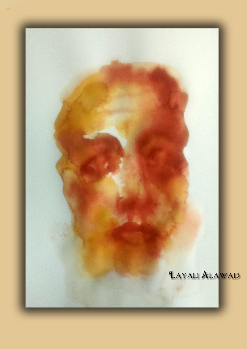 Die Kunst der Layali Alawad, Portrait Aquarel auf der Aachener Kunstroute 2016