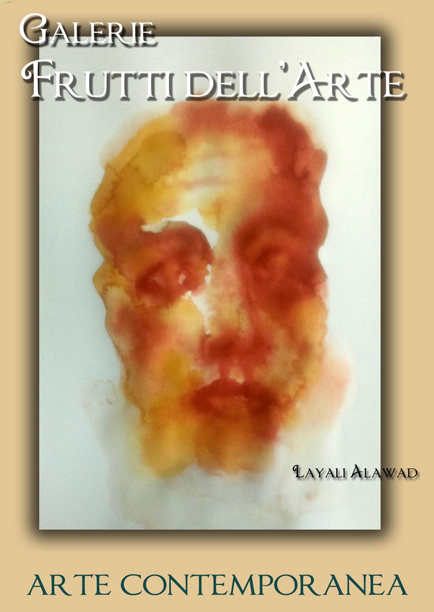 Plakat zwei, Layali Alawad auf der Aachener Kunstroute 2016