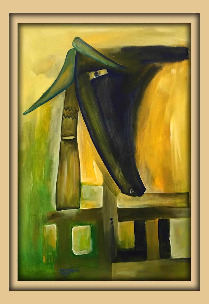 Aachener Kunstroute 2016, neue malerei, Acryl auf leinwand, Ibrahim Alawad 3