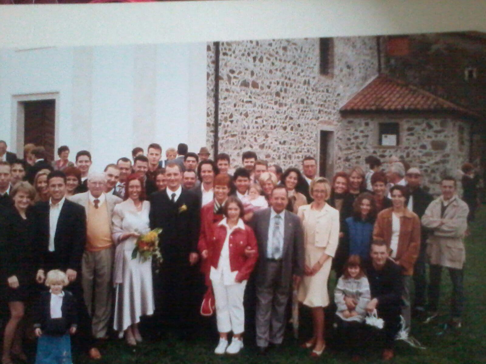 Catia e Gianluca, 30 Settembre 2001 - Foto di gruppo