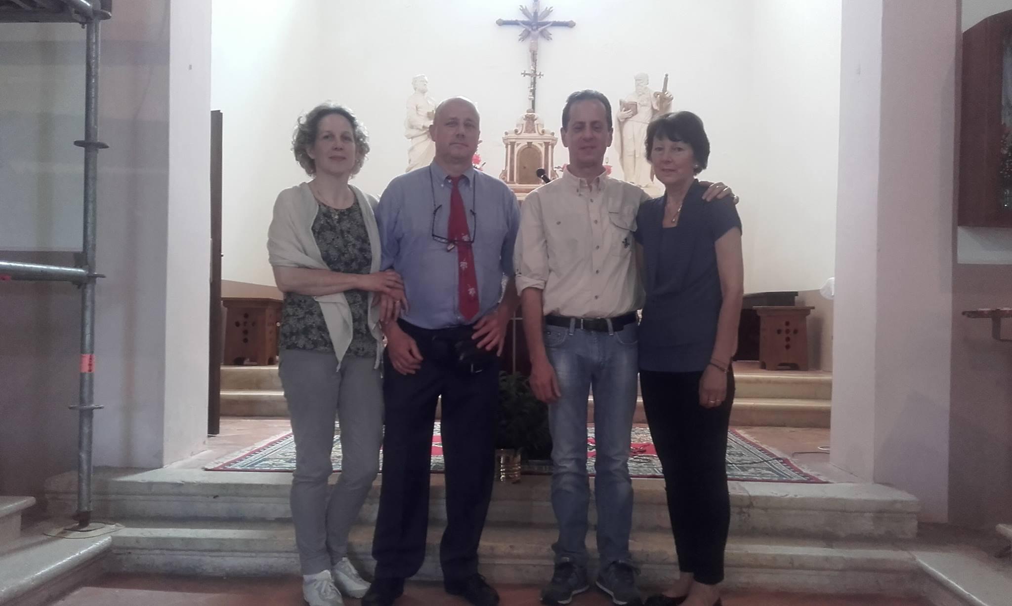 Marilia con Mauro e Giorgio con Fabiola, 35 anni dopo: 29 giugno 2016