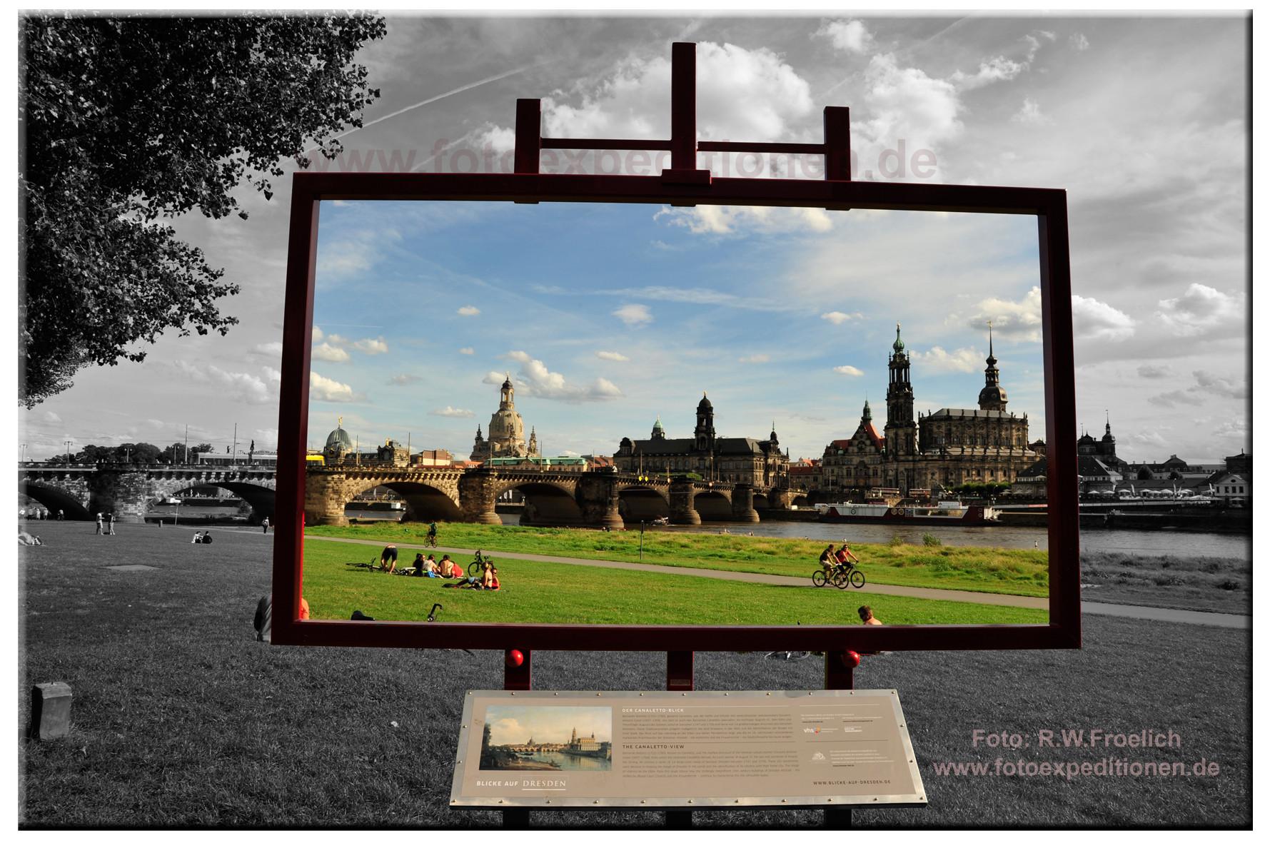 Dresden, der Blick des Canaletto