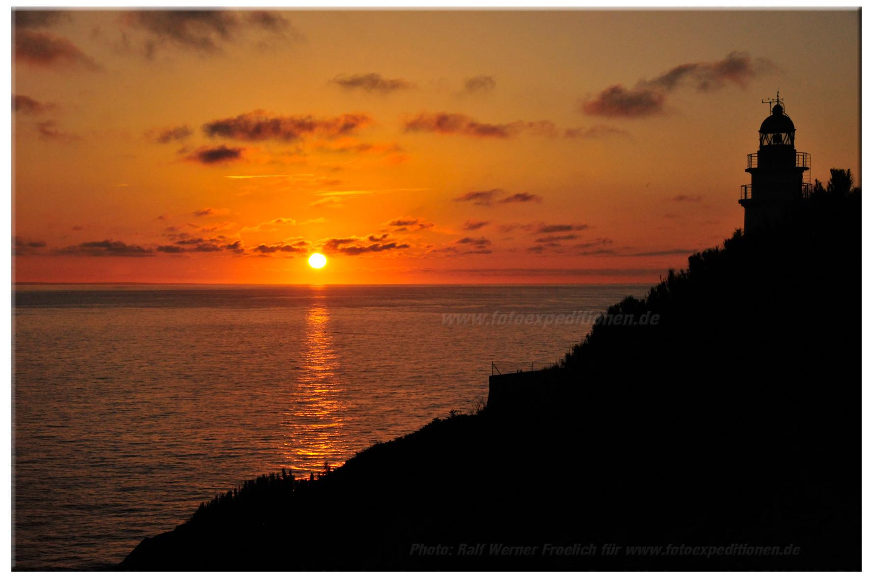 Sonnenaufgang Cap de Pera, Mallorca