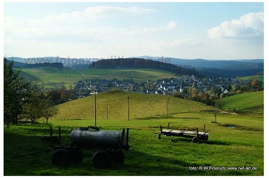 Blick über Sosa, Erzgebirge