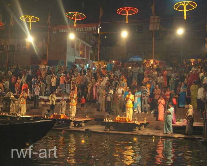 Puja in Varanasi am Ganges