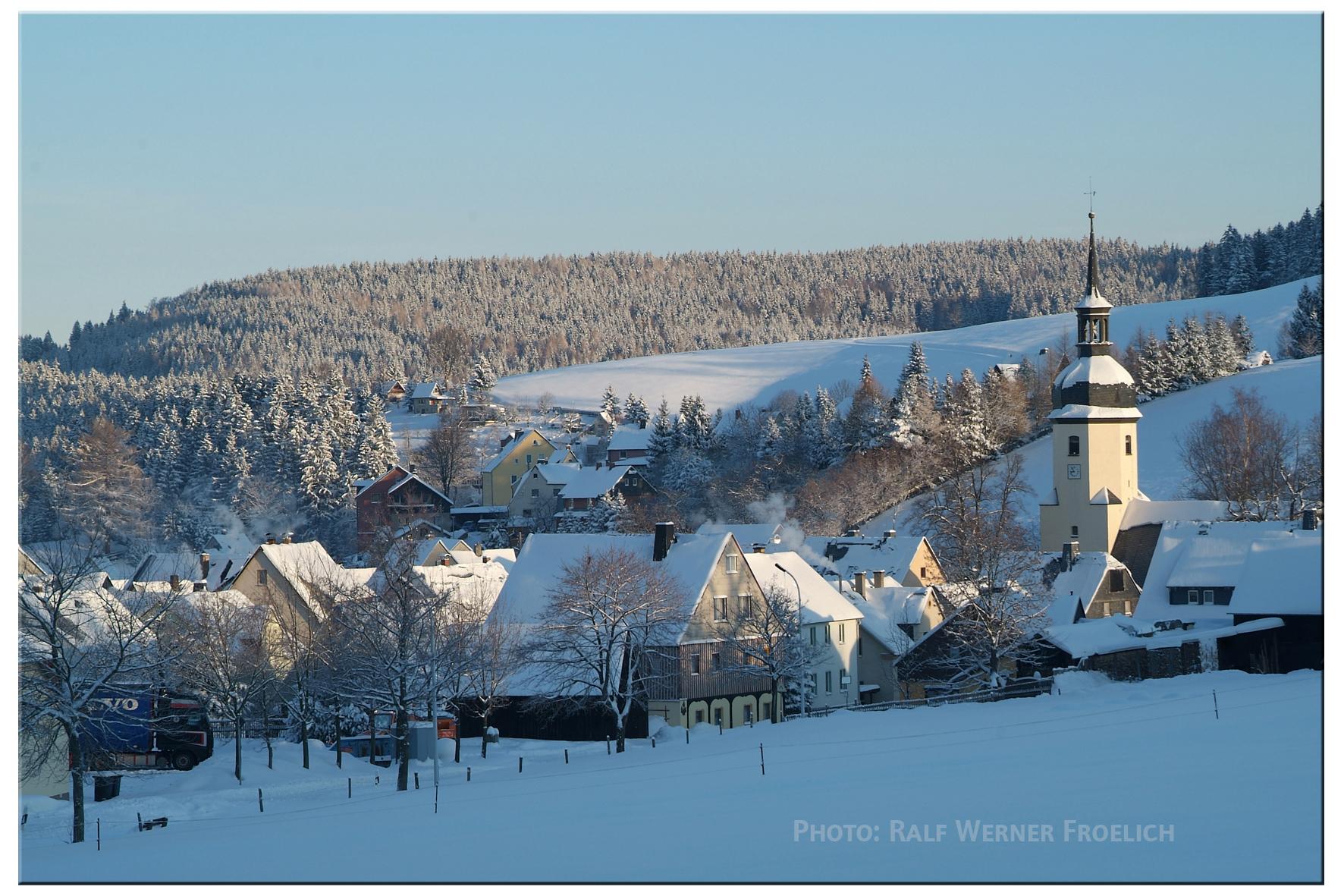 Winter in Sosa im Erzgebirge