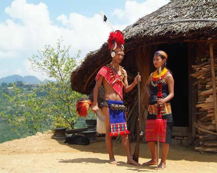 Longsha und seine Frau in traditioneller Kleidung