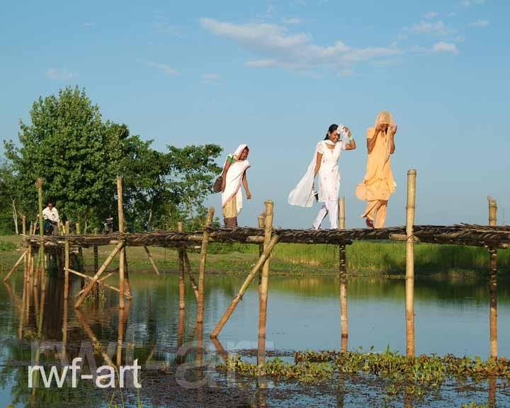 Auf dem Weg ins Dorf, Majuli