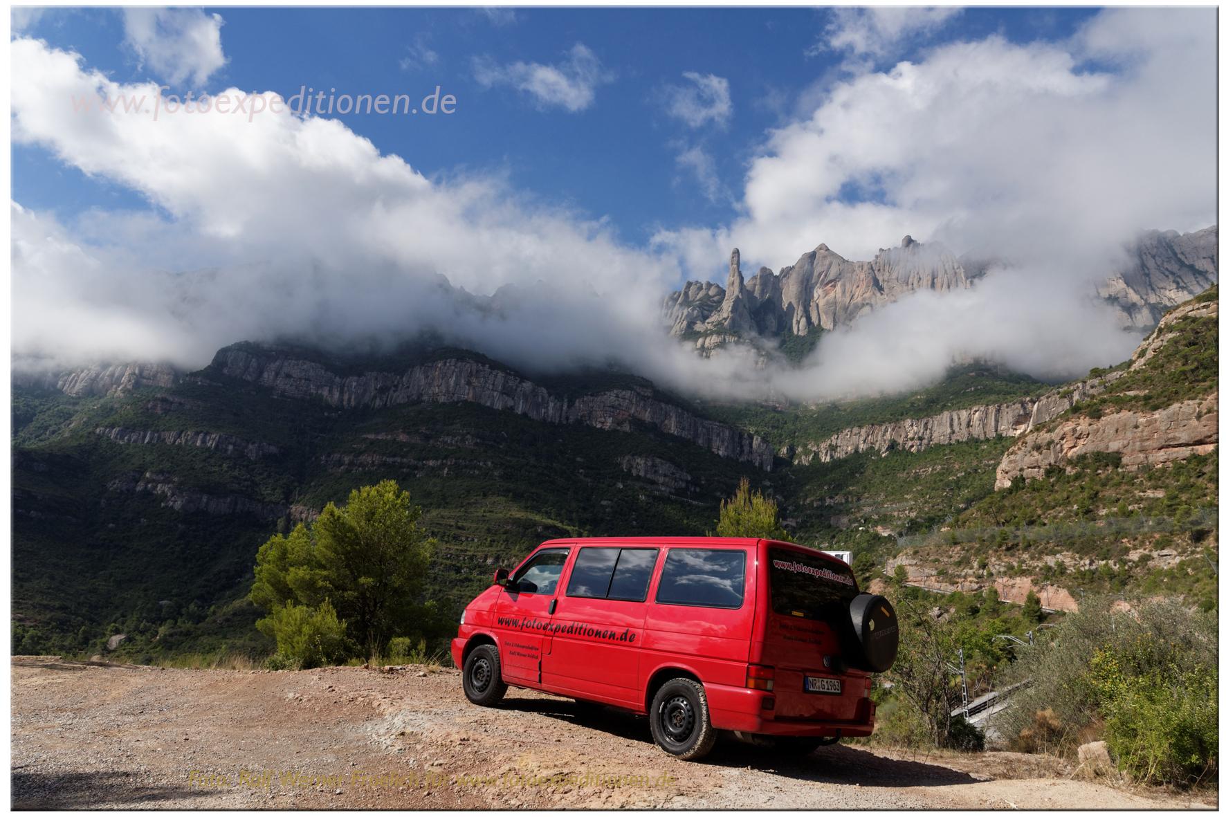 Mit dem VW zum Montserrat, Spanien