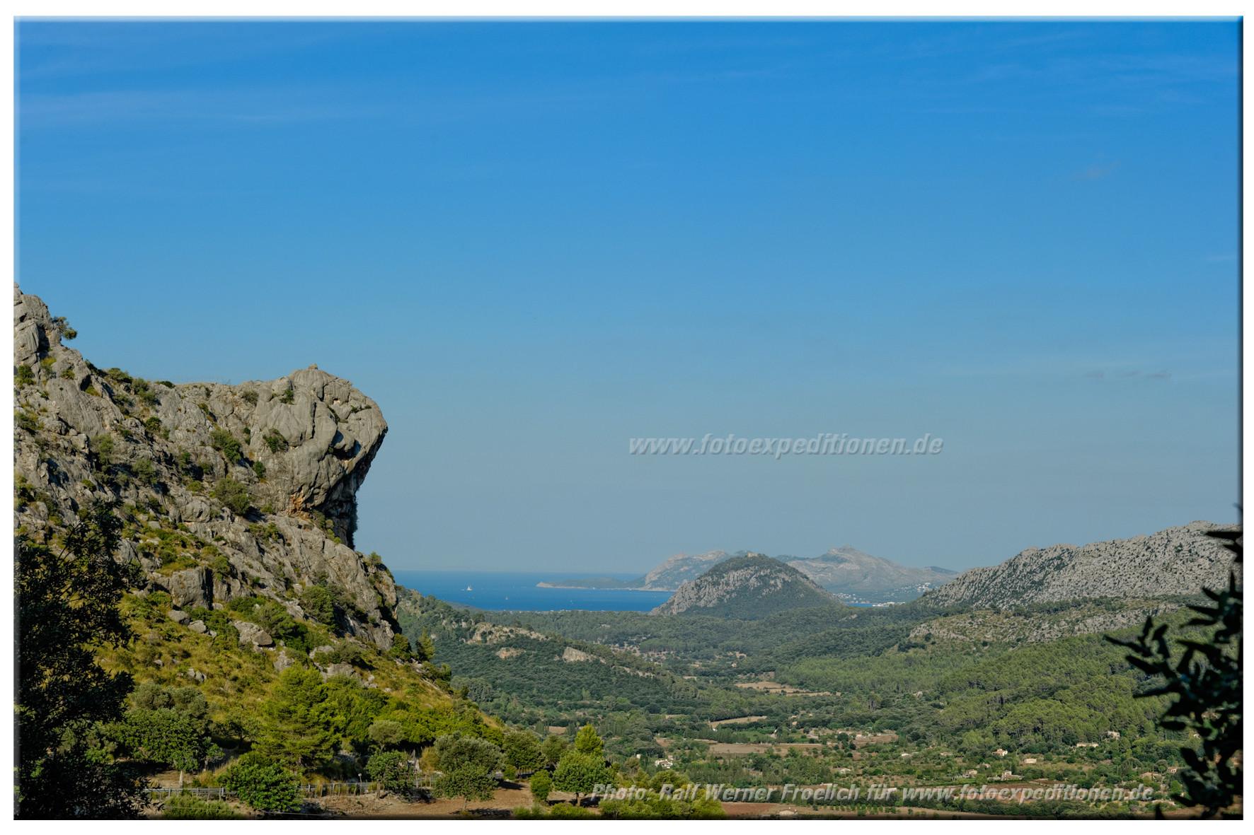 Blick auf die Bucht von Pollenca, Mallorca