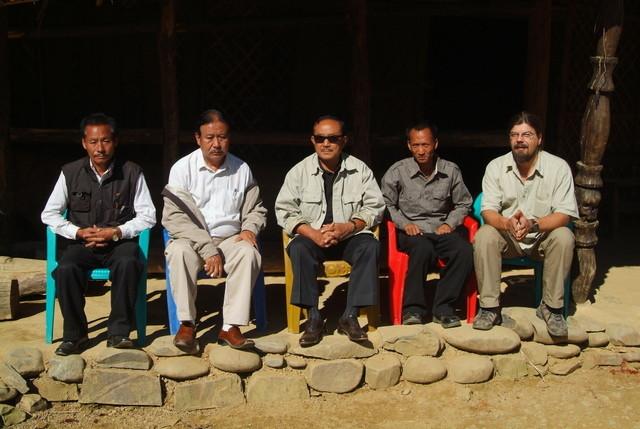 Treffen mit Stammesführern Der Naga in Nordostindien