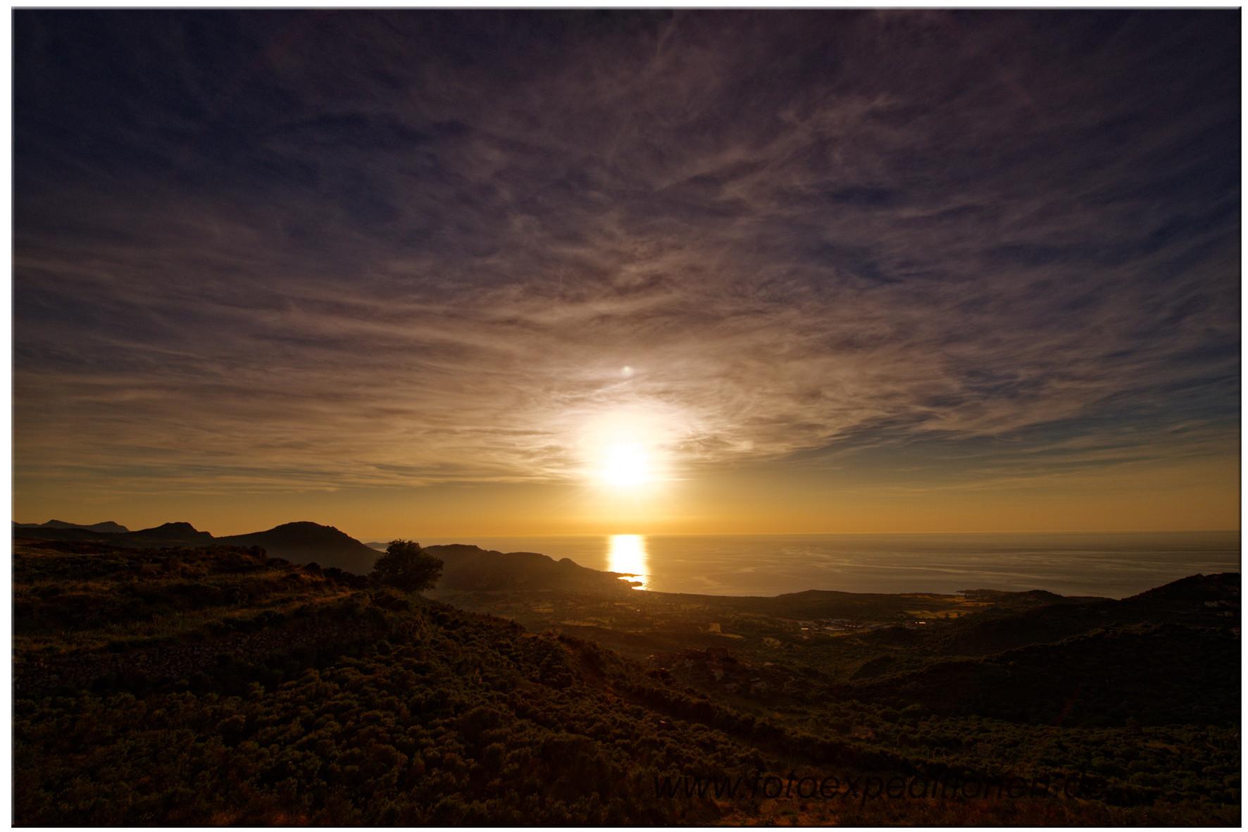Abendstimmung über der Bucht von Algajola, Korsika