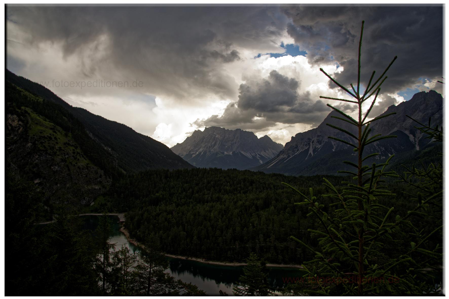 Zugspitze mit Blindsee